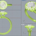 CAD Rendering of the Allie Halo Setting by Brian Gavin