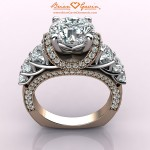 CAD Rendering of Brian Gavin Custom Rose Gold and Platinum Ring
