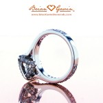 Inside View of Brian Gavin Signature Cushion Cut Halo Ring