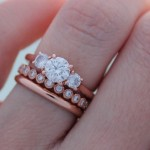 Jessica's 18K Rose Gold Ring Stack