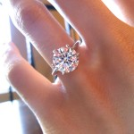 Front View of Sarah's Brian Gavin Signature H & A diamond
