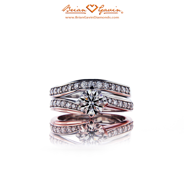 The Jennifer Solitaire and Matching Diamond Band by Brian Gavin