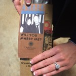 Unique Proposal at Chocolate Factory Ends with Beautiful Diamond Engagement Ring by Brian Gavin