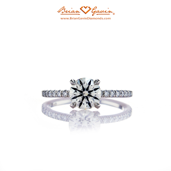 The Legera Pave Diamond Engagement Ring by Brian Gavin