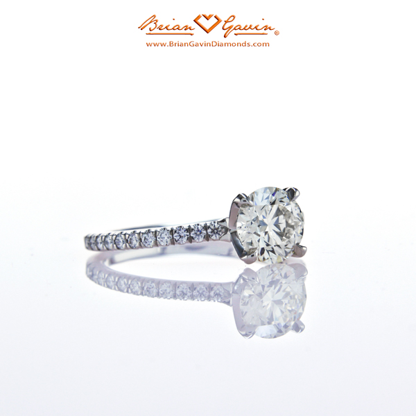 The Legera Pave Diamond Engagement Ring From The Side