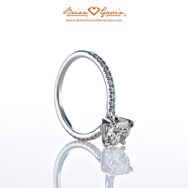 The Legera Pave Diamond Engagement Ring - Right Sideview