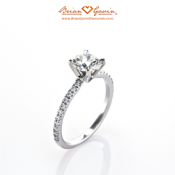 The Legera Pave Diamond Engagement Ring - Left Sideview