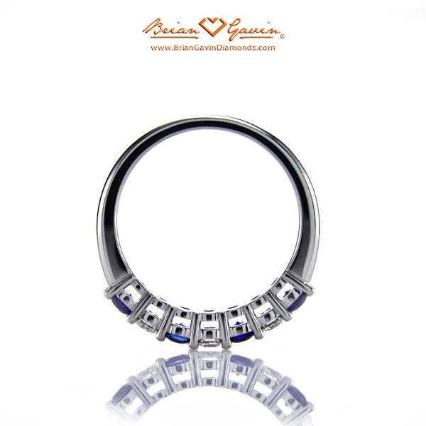 Brian Gavin Platinum Diamond and Sapphire Half Eternity Band