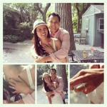 The Newly Engaged Couple and Hand Shots!