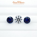 The Recut Diamond Flanked by the 2 x 6.5mm Sapphires