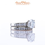 Brian Gavin Custom Platinum Diamond Wedding Set