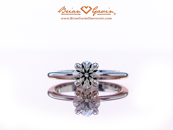 Brian Gavin Signature Hearts and Arrows Cushion Cut Diamond