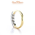 Inside View of 5 Stone U Prong Ring by Brian Gavin