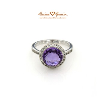 Square Pyramid Cut Amethyst Ring