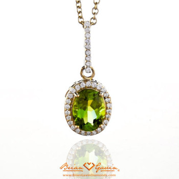 Peridot 18K Yellow Gold Pendant