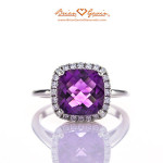 Brian Gavin Select Cushion Amethyst Halo