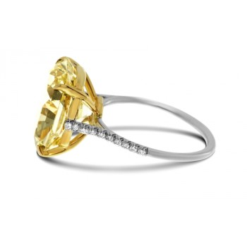 Fancy Intense Yellow Radiant 10.16ct Diamond Ring