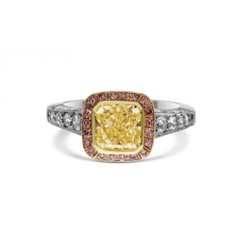 Fancy Yellow Radiant 2.09ct Diamond Ring