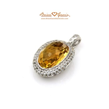 Oval Cut Citrine Pendant