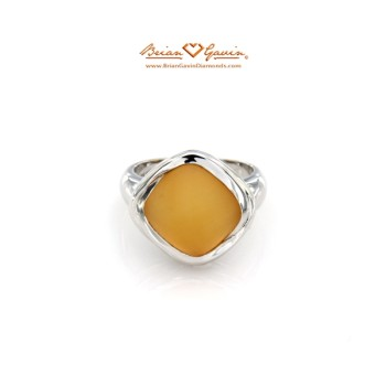 Square Matte Citrine Ring