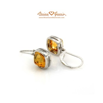 Square Pyramid Cut Citrine