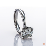 4-prong solitaire custom ring for Theresa Rockface of 94.5 The Buzz