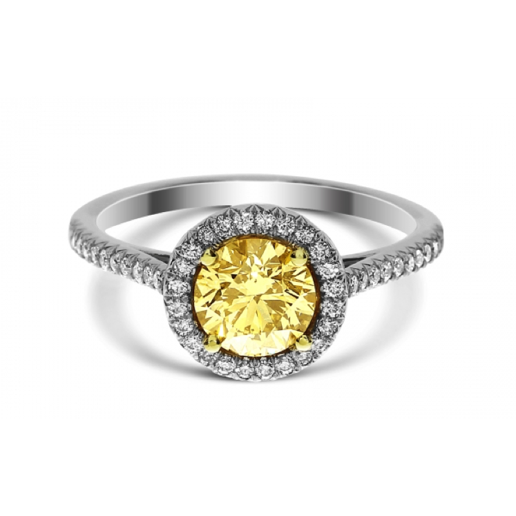 Fancy Yellow Diamond Brian Gavin Ring
