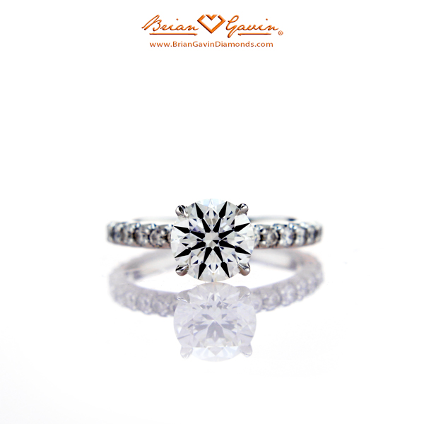 Fishtail Pave Engagement Ring with Novela Head