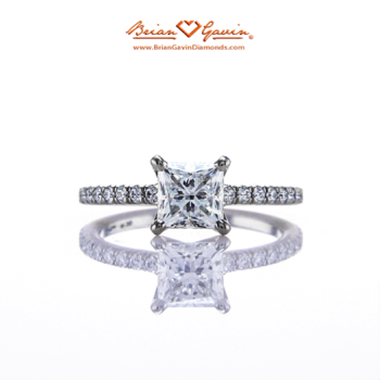 Legera Pave Engagement Ring - Brian Gavin Diamonds