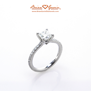 Legera Pave Engagement Ring - Brian Gavin Diamonds Side View