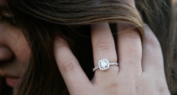 Nick and Lauren's Grouse Mountain Proposal featuring Brian Gavin Diamonds' Anita Halo Engagement Ring