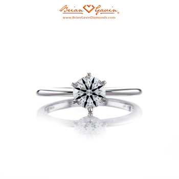 Classic Style Half Round Solitaire Ring