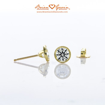 Milgrain Bezel Earrings