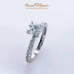 Fishtail Pave Engagement Ring