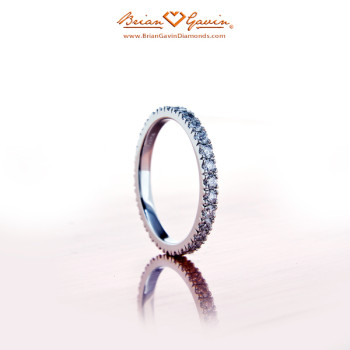 Novela Matching Wedding Band in Platinum