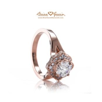 Trend Report: Vintage-Inspired Engagement Rings -  Brian Gavin Diamonds 810 Rose Gold Ring