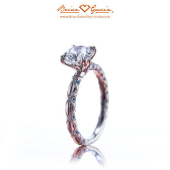 Trend Report: Vintage-Inspired Engagement Rings - Brian Gavin Diamonds Lace and Sapphire Engagement Ring