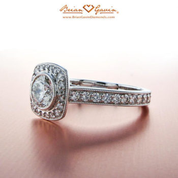 Trend Report: Vintage-Inspired Engagement Rings - Brian Gavin Diamonds Round Halo Ring