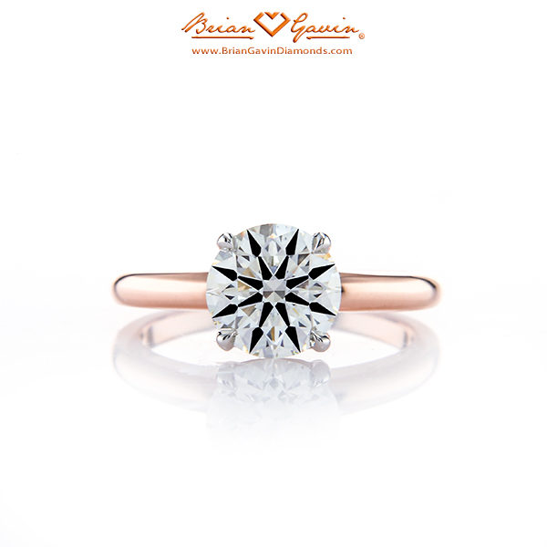 New Truth Solitaire BGD Engagement Ring set in 18K rose gold 3