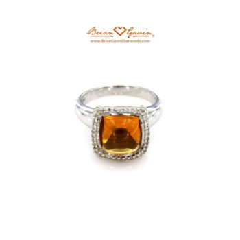 Square Cab Citrine ring bgd