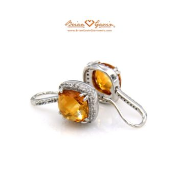 Square Cab Citrine earrings bgd