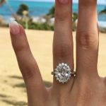 Nicole's 2.50 F VVS2 Custom Oval Halo Diamond Engagement Ring