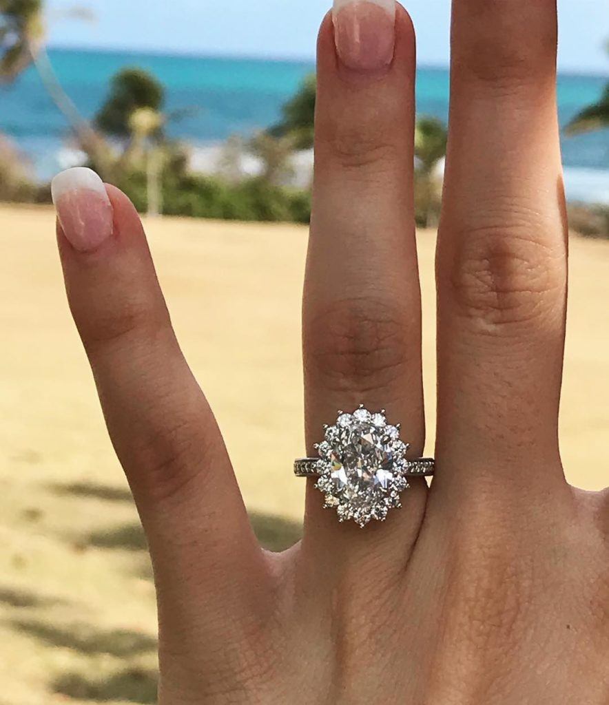 Nicole's 2.50 F VVS2 Oval Brilliant Cut Diamond Engagement Ring