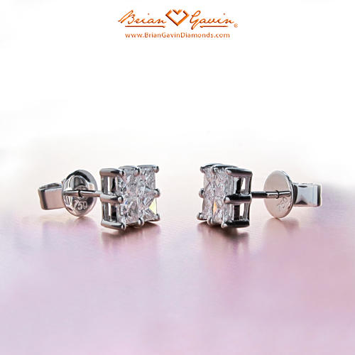 4 Square 18K White Gold