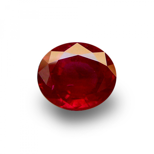 3.32 ct Oval Red Ruby