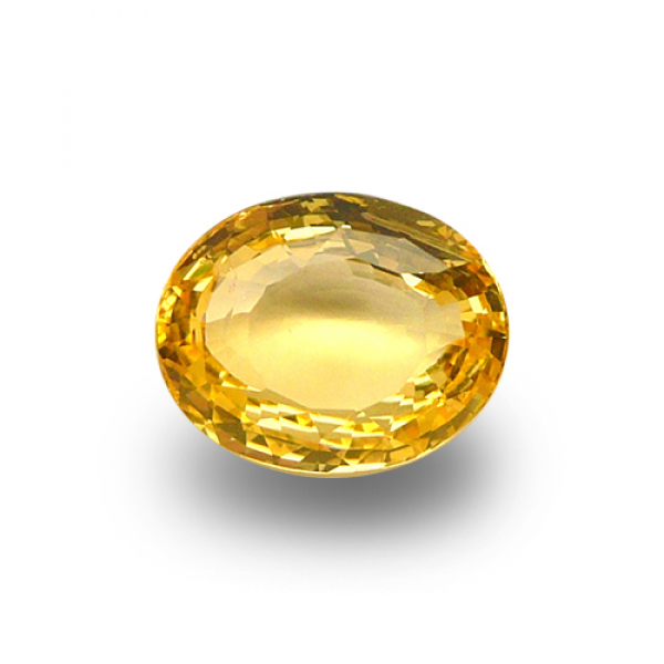 4.52 ct Oval Yellow Sapphire