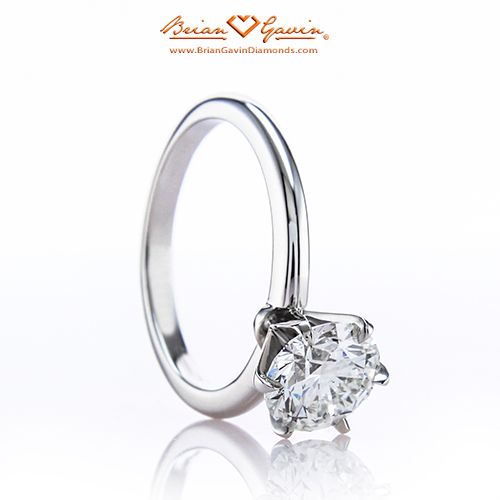 CZ Solitaire 4 Prong Solitaire Ring Bridal Ring Manmade Diamond Ring Round Solitaire Engagement Ring Half Eternity Ring Band
