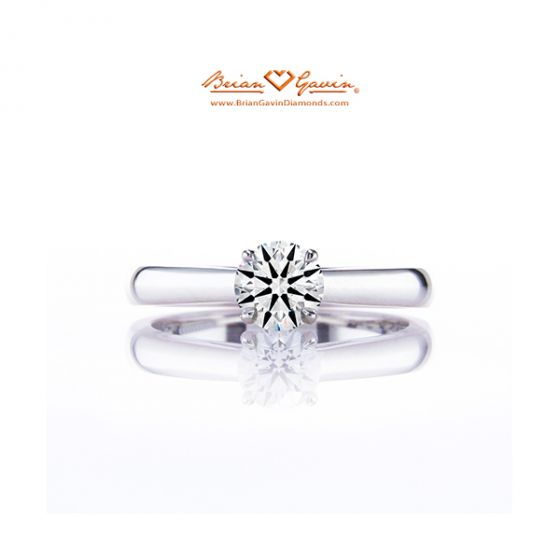 Cathedral Solitaire 18K White Gold