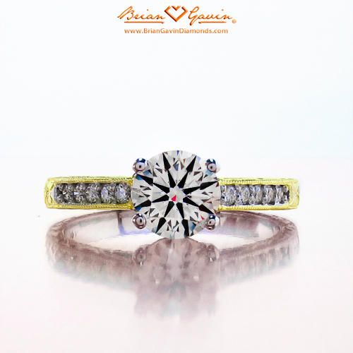 Engraved Cathedral 18K Yellow Gold