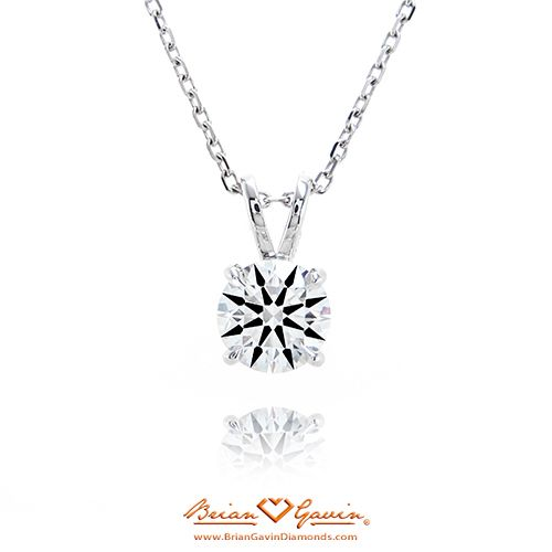 4 Prong Pendant 14K White Gold